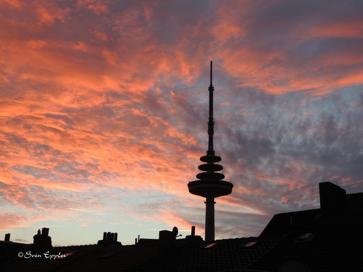 Morgenröte in Bremen